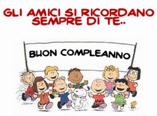 Vignetta Compleanno Con Snoopy Con La Frase Gli Amici Si
