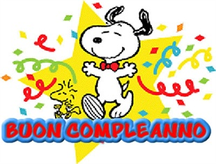 Snoopy auguri compleanno