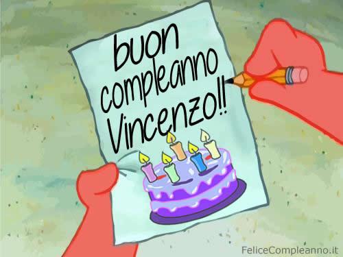 Super immagine Auguri compleanno Vincenzo - Immagine buon compleanno  HB43